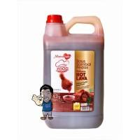 MamaSuka Saus Sambal Pedas Delisaos Hot Lava Halal- Chili Sauce 6.2 Kg