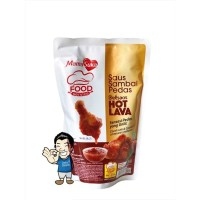 MamaSuka Saus Sambal Pedas Delisaos Hot Lava Halal- Chili Sauce 1 Kg