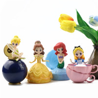 Tinkerbell Belle Ariel Alice Capchara Gashapon Figure Disney Princess