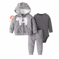 Baby Jumper Set 3 in 1 - Jacket Long Sleeve Jumper & Pants WHITE BEAR