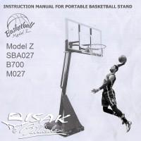 Buku Manual Cara Pasang Basketball Hoop Z SBA027 B700 Basket Ring M027