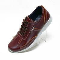 Sepatu Sneakers Pria Casual Fordza Lexio Kets Kulit Asli Lx111- Maroon