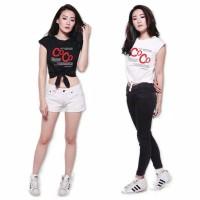 Tshirt Crop Anak Kaos Ikat CC | Baju Atasan Anak Remaja Kekinian