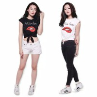 Kaos Anak Remaja tshirt Ikat Crop Hello 12-17tahn | Baju Anak Kekinian