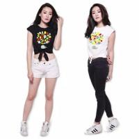 Tshirt Anak Crop Ikat Rainbow 12-17tahun | Baju Anak Abg Best Seller