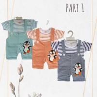 Setelan Baju Bayi   Overall Jumper Bayi Anak I Romper Lengan Pendek