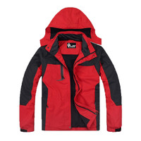 Jaket Pria Waterproof Jaket Dingin Jaket Gunung Tahan Air Angin ADV - Merah, S