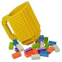 Gelas Mug Lego Build-on Hitam TP024