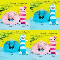 Bantal dot bayi balita karakter hello kitty doraemon