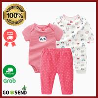 Carters Baju Baby Cewek 3 in 1 Sleepsuit Celana Panda Pink Murah