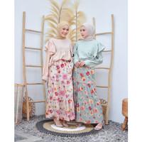 Isyana Set (Atasan+Rok) Setelan Rok Wanita Muslim Pakaian Set Fashion