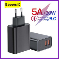 Baseus Charger Speed Dual USB QC 3.0 Quick Charge 30W 5A Fast Charging