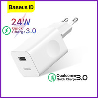 Baseus 24W USB Port Fast Charger Quick Charge QC 3.0 Wireless Charging