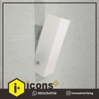 Lampu Dinding Putih Polos P01 (Wall Lamp) LAMPU DINDING OUTDOOR INDOO