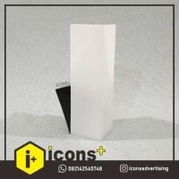 Lampu Dinding Polos Putih P02 (Wall Lamp) LAMPU DINDING OUTDOOR INDOOR