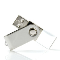 Souvenir Promosi Logo Perusahaan USB Flashdisk Crystal Swivel
