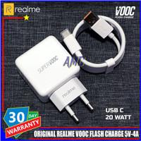 Charger Realme VOOC Flash Charge 5V-4A ORIGINAL 100% USB C 20 Watt