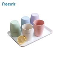 freemir gelas wheatstraw cangkir plastik cup warna warni Set 5 pcs