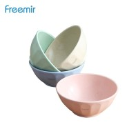 freemir Mangkuk Soup Plate Wheatstraw Bowl Tahan Panas Mix Warni 4 Pcs