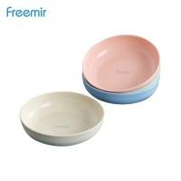 freemir Piring Wheatstraw Round Plate BPA free Warna Warni set 4 Pcs