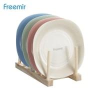 freemir Piring Makan Wheat Straw Oval Plate Warna Warni Set 4 Pcs