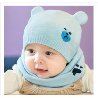 Topi Kupluk Katun Rajut Anak Laki-Laki / Perempuan Gambar Smiley Face