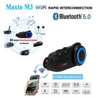 Intercom Helm Maxto m3 Bluetooth Helm Confrence Sony Camera 6 Rider