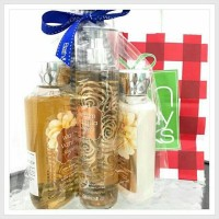 GIFT SET FULL SIZE BESAR Bath and Body Works Warm vanilla Sugar (SIZE