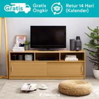 Moku Meja TV Minimalis atau Lemari Rak TV (Buffet TV Cabinet) - Cokelat