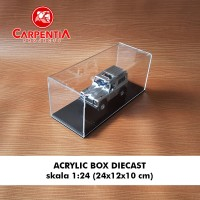 Acrylic Box Diecast skala 1 : 24 (24x12x10) cm / Case Akrilik Model