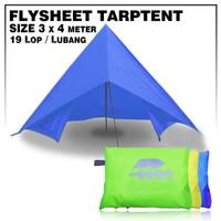 FLYSHEET 3x4 m / Tutup Tenda/ Tenda Emergency