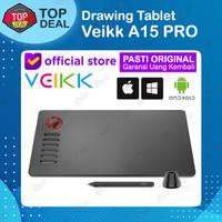 VEIKK A15 PRO Graphic Pen Tablet 8192 Pressure Windows Mac Alt A50