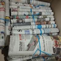 Koran Bekas 500gr kondisi layak pakai untuk pembungkus sate nasi uduk