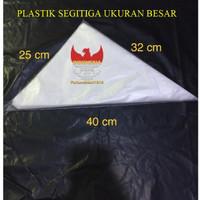 Plastik Segitiga Besar / Piping Bag Besar / Papping Bag ( isi 50 pcs )