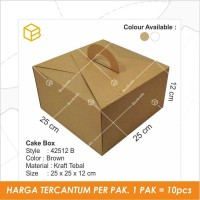 Dus kue, cake box, Kemasan, Kotak, Packaging, Gable box TC-42512 BROWN