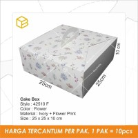 Dus Kue, Cake Box, Packaging, Kemasan, Kotak Gable TC - 42510 Flower