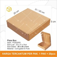 Dus Pizza Box Kotak Packing Corrugated 20 x 20 x 5cm TC - PZ202005