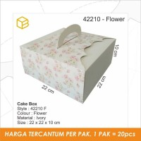 Packaging, Dus Kue, Cake Box, Gift, Kotak TC - 42210 Flower Print