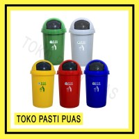 [Khusus Gojek Grab] Tempat Sampah Besar Bio 50 Liter Green Leaf 2150