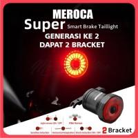 Smart Brake LED Taillight Lampu Belakang Sepeda MEROCA Otomatis Pintar