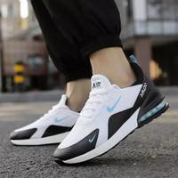 Sepatu Sneakers Pria Air Max 270 running lifestyle lari jogging casual - putih hitam, 37