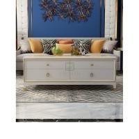 A RUMAH Furniture Meja Kopi Putih Ruang Tamu Penyimpanan Meja Teh