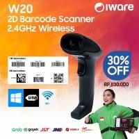2D WIRELESS BARCODE SCANNER IWARE ULTRON W20 QR CODE EFAKTUR - USB