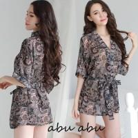 Palinglaliris Baju Tidur Kimono Lingerie Piyama Bikini G String A187-2