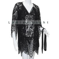 Palinglaliris Sleepwear Emillia Kimono Lingerie With Innerdress