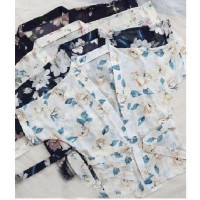 Palinglaliris Lingerie Bikini Set Baju Tidur Wanita Kimono G-String