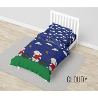 Bed Cover California - CLOUDY PEANUTS - FLAT - 120x200 (Single)