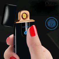 Korek Api Elektrik Lighter Fingerprint Touch Sensor Rechargeable - kotak