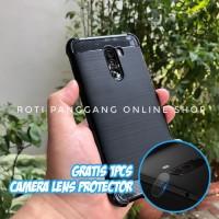 XIAOMI POCOPHONE F1 Case Fiber Carbon Rugged Anti Crack Soft TPU