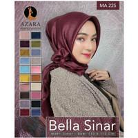 Hijab Bella Sinar Lasercut by Azara / Jilbab Segiempat Polos / Glamor